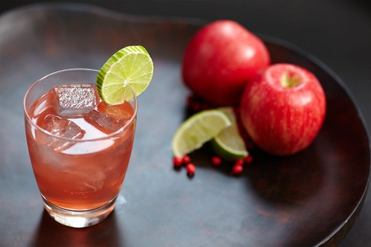Gordon's Sloe gin & Apple Juice