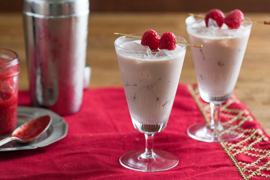 Baileys and Raspberry Eggnog