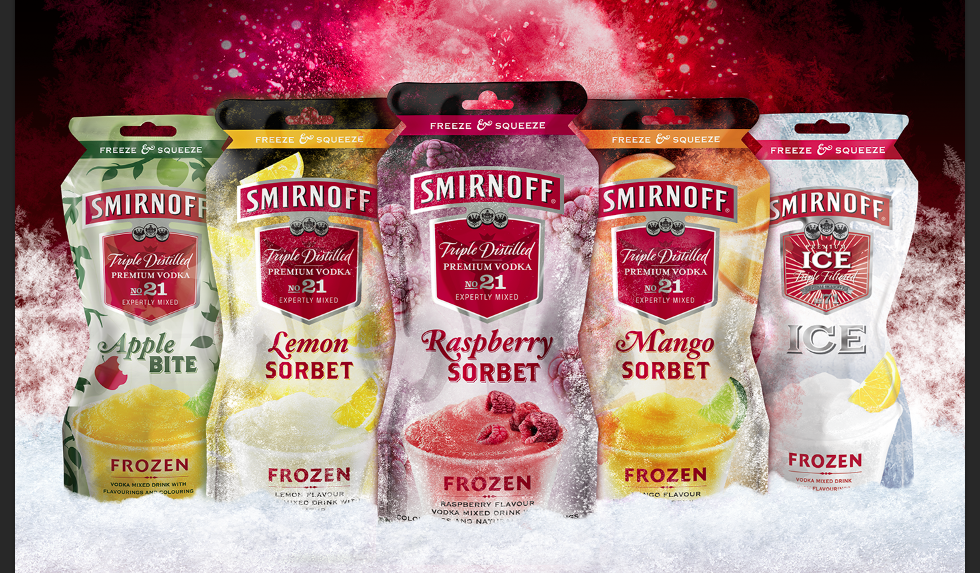 Smirnoff launches premixed frozen vodka pouches | Food & Beverage