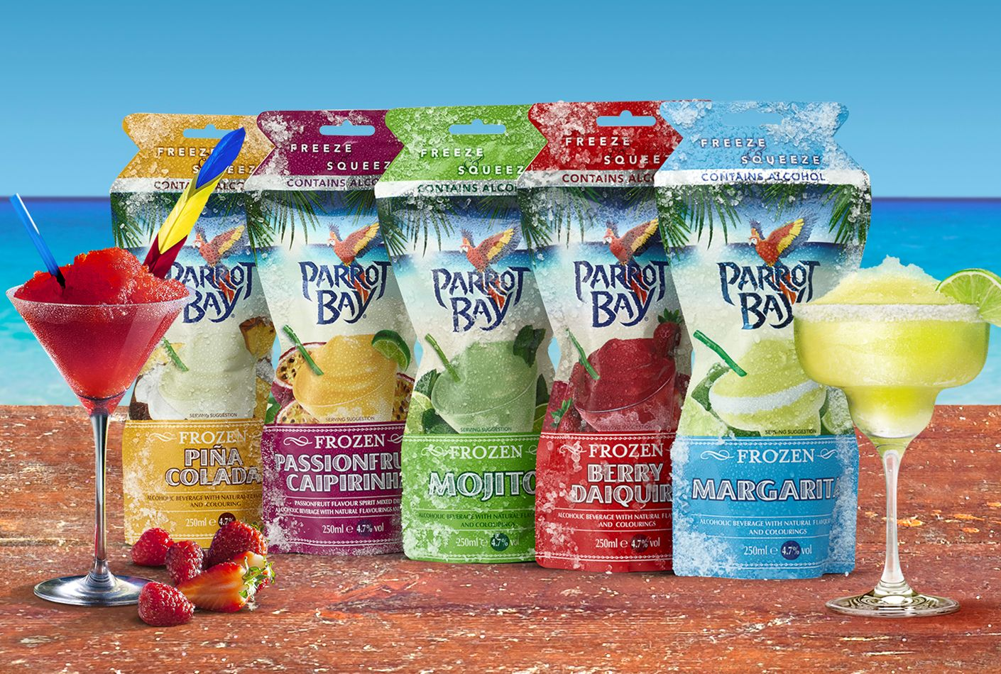 Parrot Bay Frozen Pouch Drinks & Cocktail Recipes – The Bar