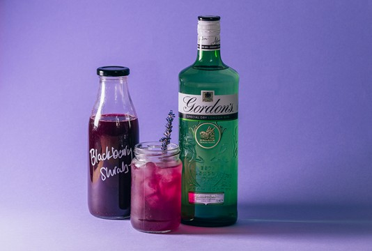 Blackberry Shrub Cocktail