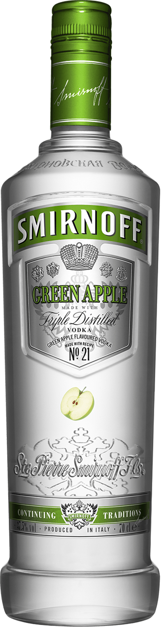 Smirnoff green apple vodka and cranberry juice mixed for Green apple mixed drinks