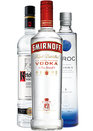 Vodka product shot